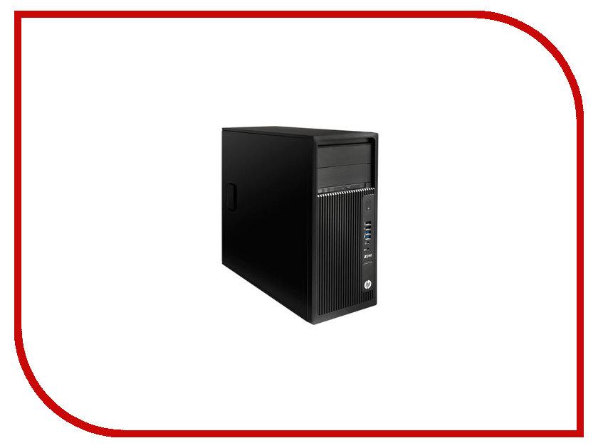 Настольный компьютер HP Z240 Black 1WV60EA (Intel Xeon E3-1245 v6 3.7 GHz/8192Mb/256Gb SSD/DVD-RW/Intel HD Graphics/Windows 10 Pro 64-bit) hewlett packard hp h2800 встроенный микрофон гарнитуры телефон гарнитура проводная гарнитура планшетный компьютер silver