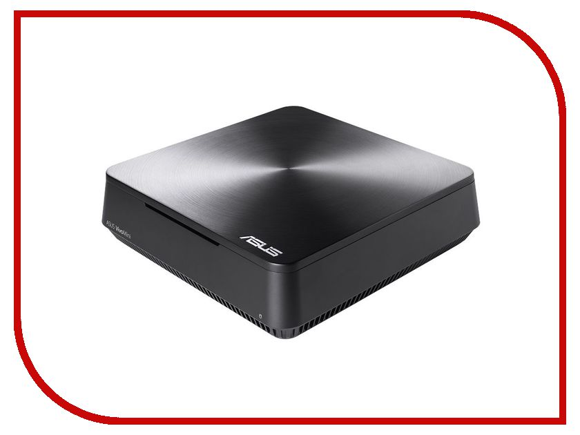 Настольный компьютер Asus VivoMini VM65-G096M Silver 90MS00T1-M00960 (Intel Core i5-7200U 2.5 GHz/8192Mb/128Gb SSD/Intel HD Graphics/Wi-Fi/Bluetooth/DOS)