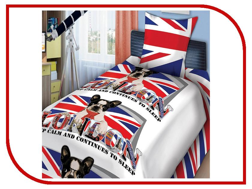 Постельное белье FOR YOU Британец 8596+8597 вид 1 Комплект 1.5 спальный Бязь