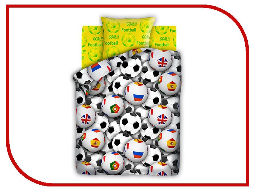 Постельное белье FOR YOU Футбольные мячи 8578+8577 вид 1 Комплект 1.5 спальный Бязь lion enpex взрослые футбольные поножи пластиковые футбольные щиты вставьте стильные ножки l no черный