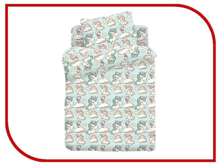 Постельное белье Кошки-мышки Единорожки КДКм-1 8796-2 Комплект детский Бязь