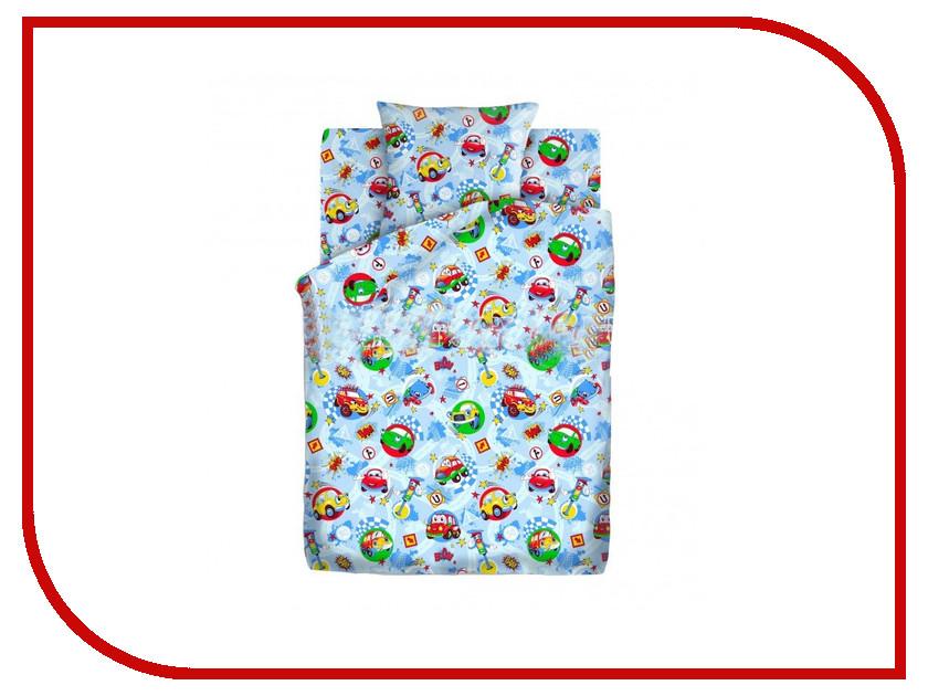 Постельное белье Кошки-мышки Машинки КПКм-10 4446-2 Комплект 1.5 спальный Бязь
