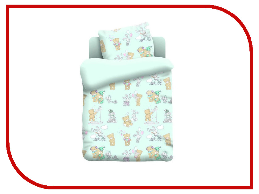 Постельное белье Непоседа Тедди 13042-2 Комплект 1.5 спальный Поплин непоседа комплект дорога 1 5 спальный союзмультфильм непоседа