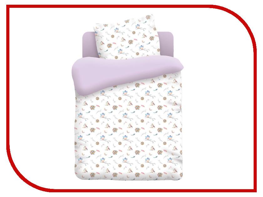 Постельное белье Непоседа Птенцы КДН-1 8896 Комплект 1.5 спальный Бязь Lilac непоседа постельное белье ёжики 3 пред бязь непоседа