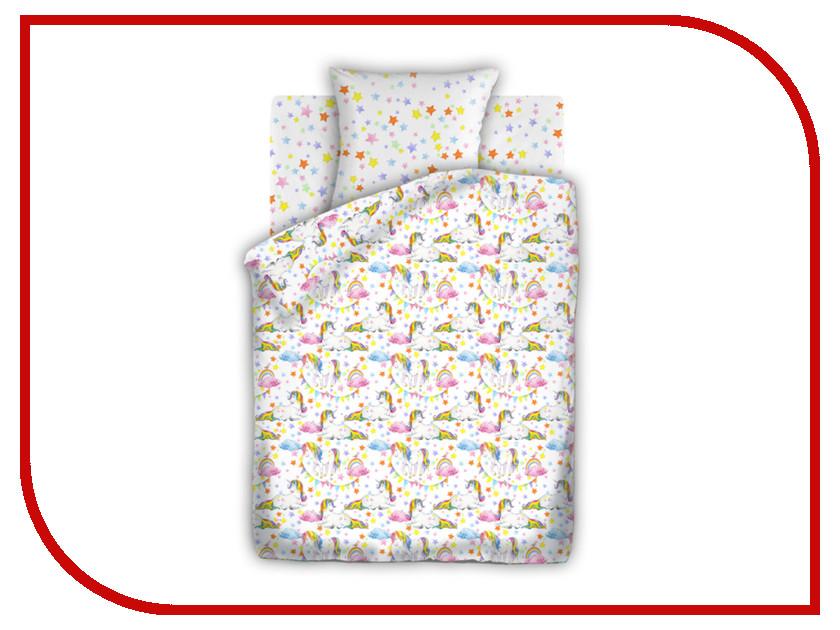 Постельное белье Непоседа Единороги КПН-10 13033/13034 вид 1 Комплект 1.5 спальный Бязь оптом непоседа постельное белье