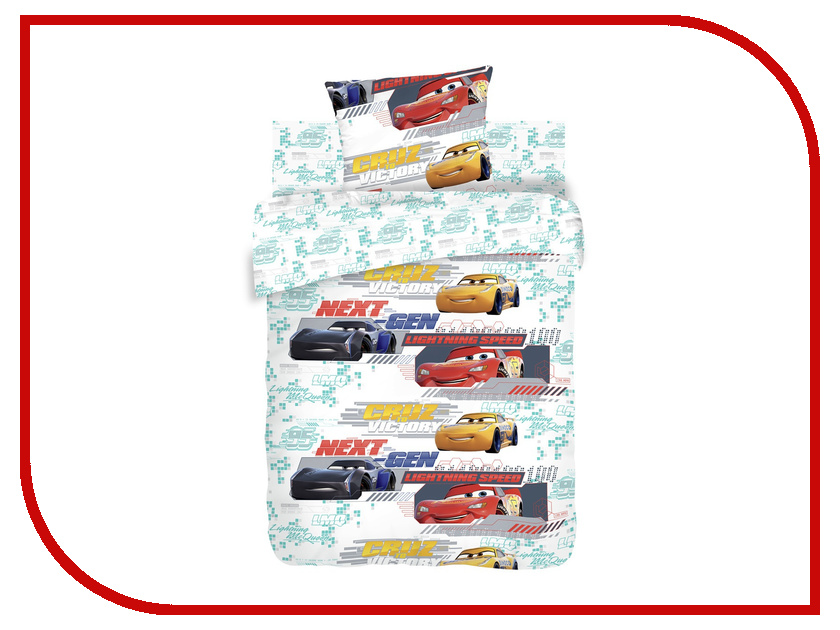 Постельное белье Тачки 8975-1/8976-1 Комплект 1.5 спальный Бязь непоседа постельное белье зайчата 3 пред бязь непоседа желтый