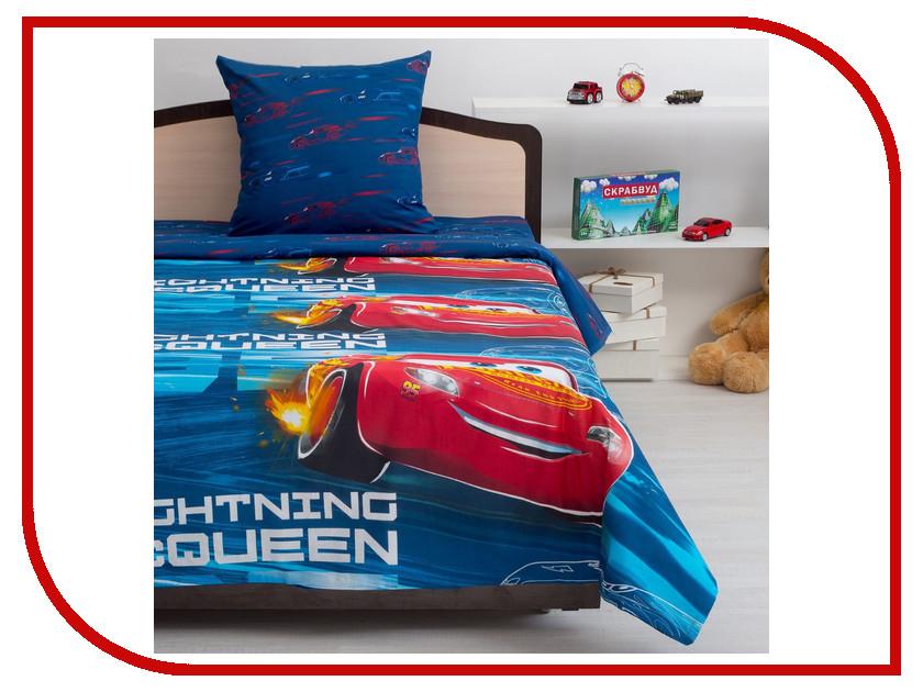 Постельное белье Тачки Neon Молния 8877+8879 вид 1 Комплект 1.5 спальный Хлопок цены