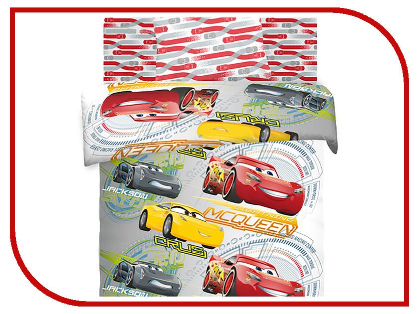 Постельное белье Тачки Соревнования 8880+8876 вид 2 Комплект 1.5 спальный Хлопок