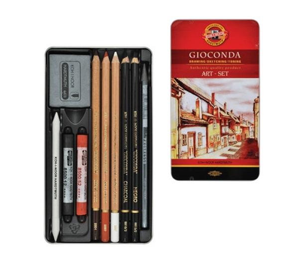 Набор художественный Koh-i-Noor Gioconda 10 предметов 8890000001PL карандаш цветной koh i noor gioconda 8593539097181