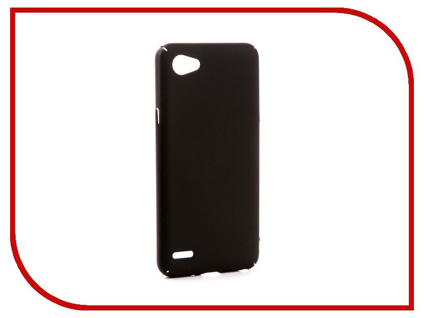 Аксессуар Чехол для LG Q6 M700AN Zibelino PC Black ZPC-LG-Q6-BLK кейс для назначение lg k10 2018 g7 бумажник для карт кошелек со стендом чехол дерево твердый кожа pu для lg v30 lg v20 lg q6
