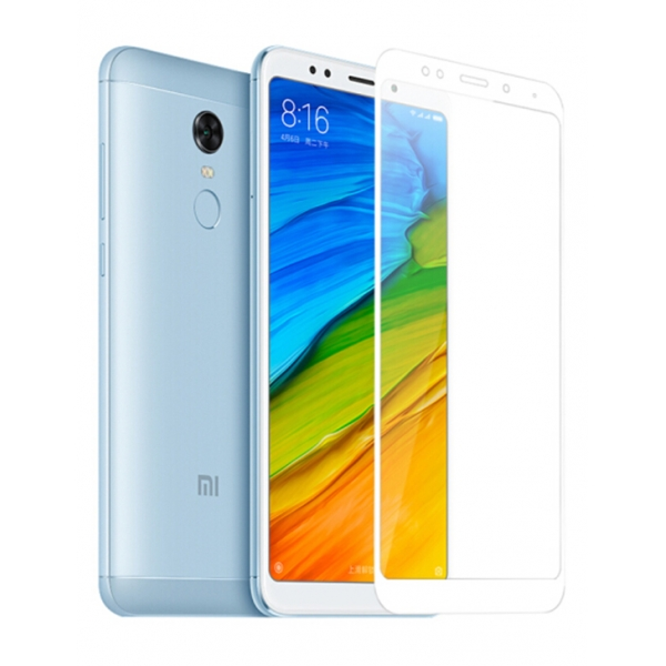 Защитное стекло Zibelino для Xiaomi Redmi 5 Plus Tempered Glass Full Screen 0.33mm 2.5D White ZTG-FS-XMI-RDM-5-PLS-WHT