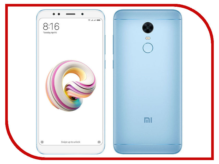 Сотовый телефон Xiaomi Redmi 5 Plus 3Gb RAM 32Gb Blue wj blue iphone7 plus 55inch