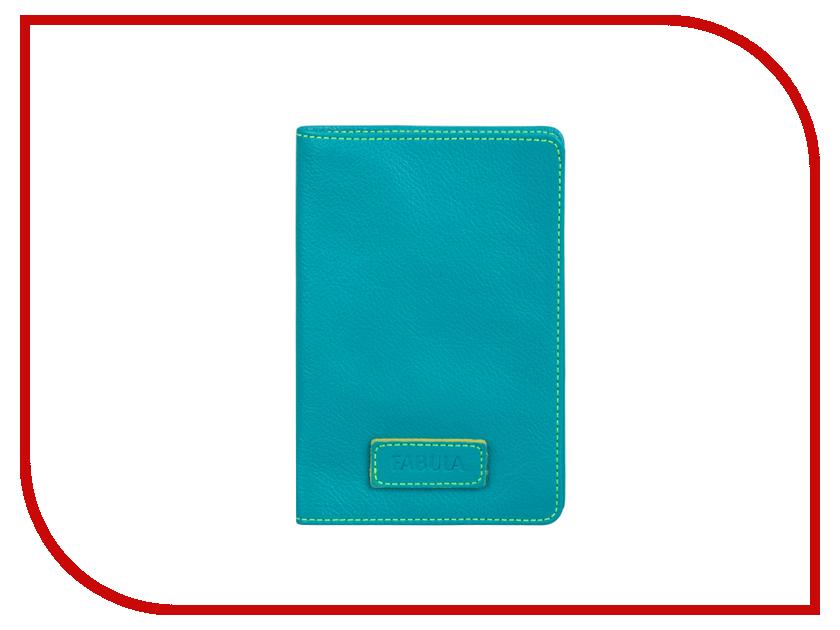 Аксессуар Fabula O.82.FP Ultra Turquoise обложка для паспорта женская fabula london цвет белый o 85 sp
