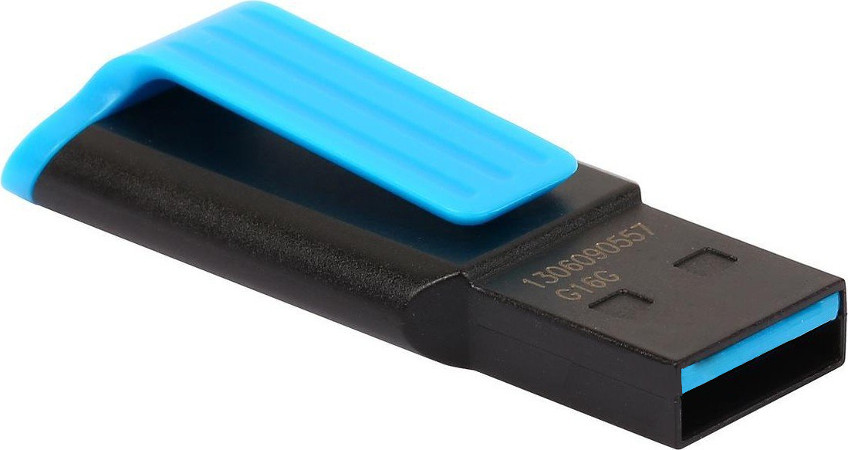 USB Flash Drive 16Gb - A-Data UV140 3.0 Black-Blue AUV140-16G-RBE