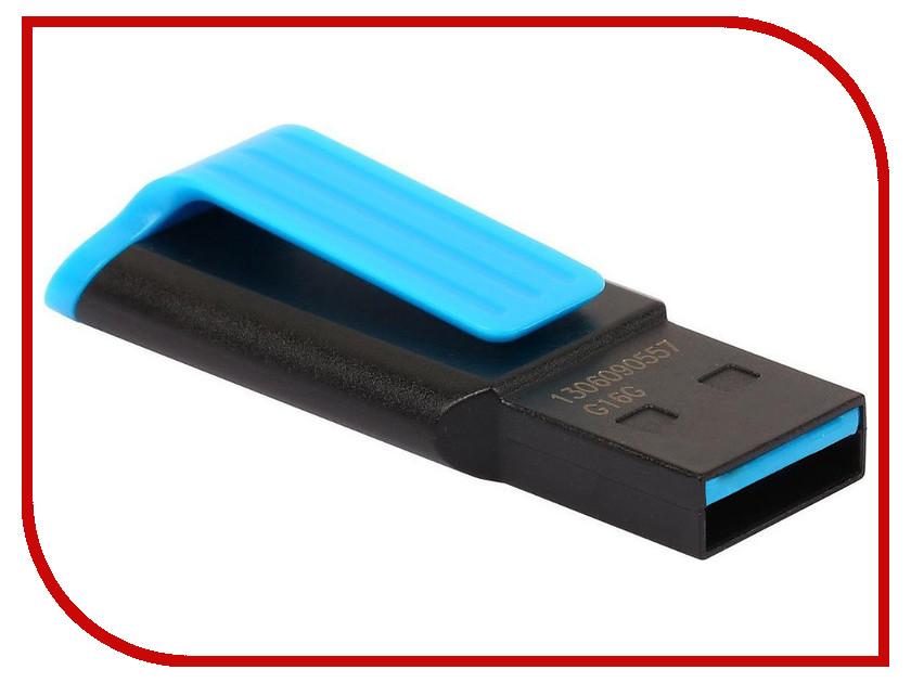 USB Flash Drive 64Gb - A-Data UV140 USB 3.0 Black-Blue AUV140-64G-RBE цена и фото
