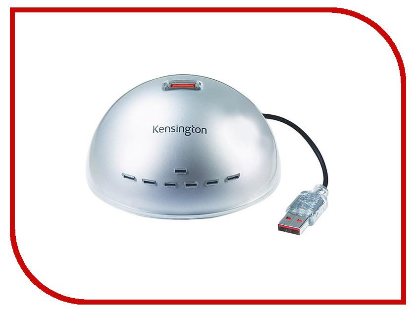 Хаб USB Kensington 7xUSB 2.0 Silver 1500100 usb концентратор kensington hub usb 2 7 портов 1500100