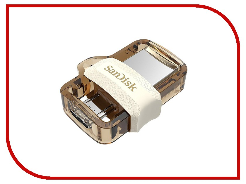 USB Flash Drive 64Gb - SanDisk Ultra Android Dual Drive OTG USB 3.0 White-Gold SDDD3-064G-G46GW 1setx original new pickup roller feed exit drive for fujitsu scansnap s300 s300m s1300 s1300i