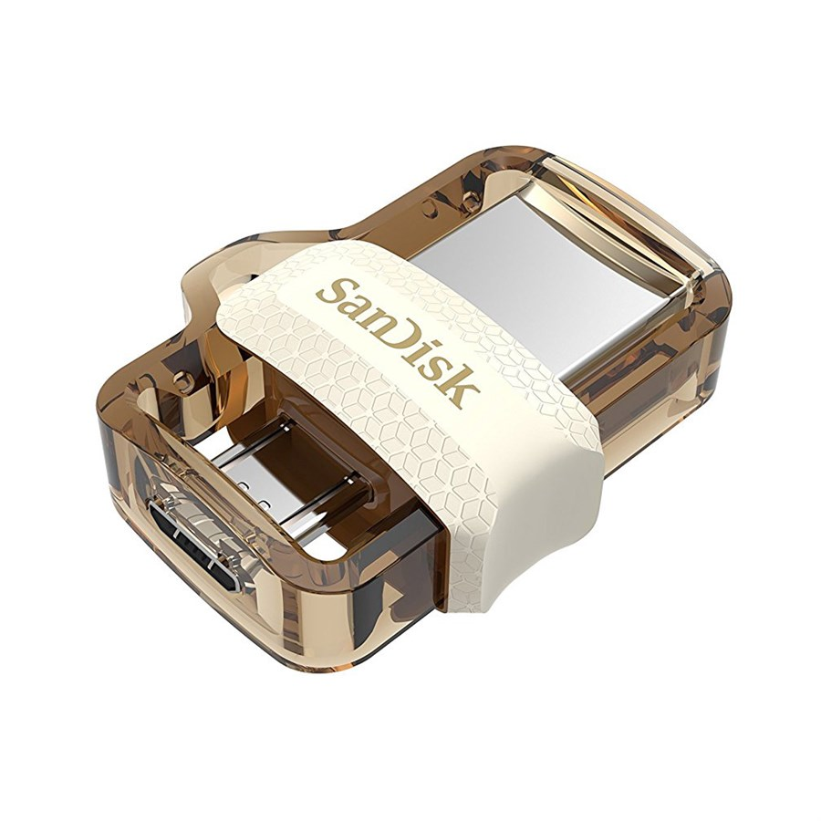 USB Flash Drive 64Gb - SanDisk Ultra Android Dual OTG 3.0 White-Gold SDDD3-064G-G46GW
