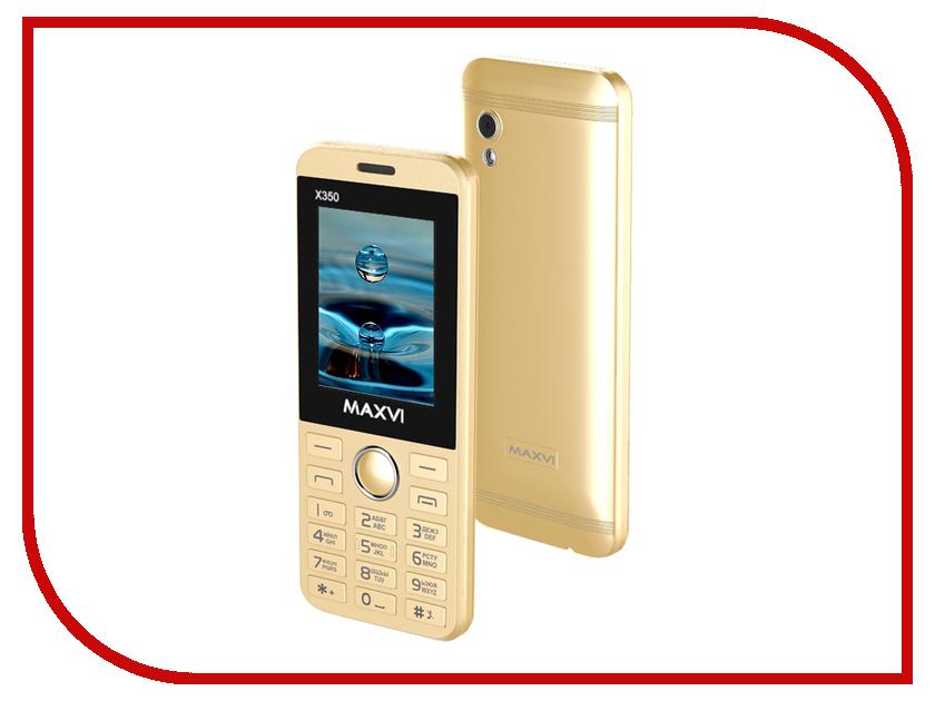 Сотовый телефон Maxvi X350 Metallic Gold сотовый телефон maxvi x850 gold