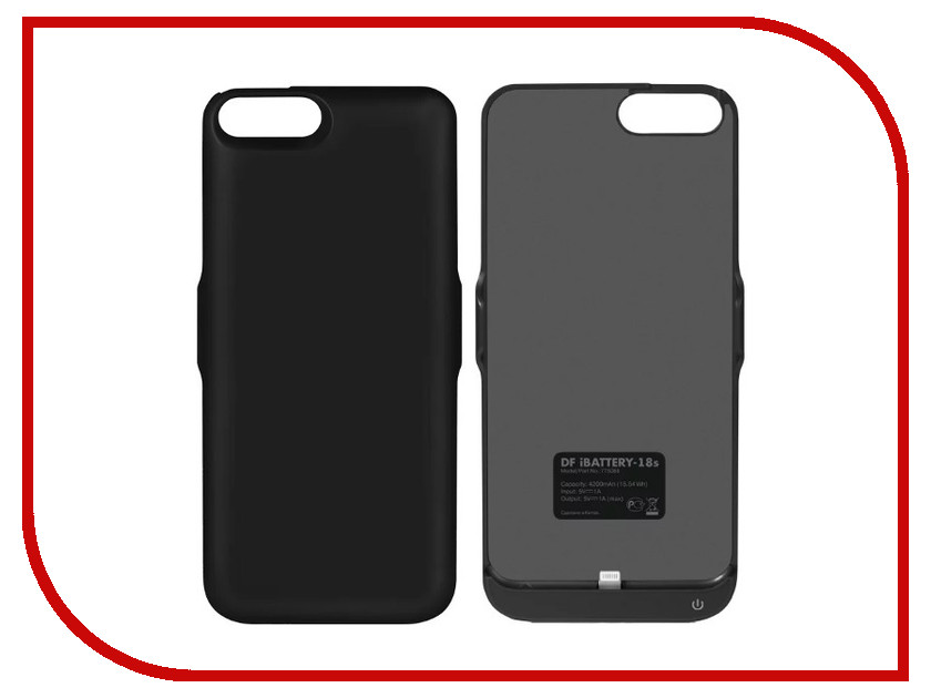 Аксессуар Чехол-аккумулятор DF iBattery-18s для APPLE iPhone 6 Plus / 6S Plus / 7 Plus / 8 Plus 4200mAh Black benks magic kr pro 0 15mm 3d curved tempered glass screen protector for iphone 6s plus 6 plus full cover white
