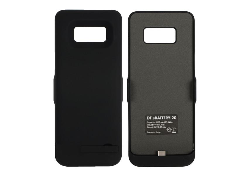 Аксессуар Чехол-аккумулятор DF для Samsung Galaxy S8 5500mAh sBattery-20 Black цена и фото