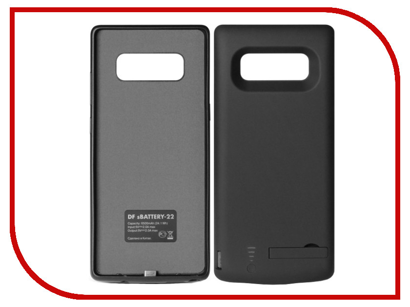 Аксессуар Чехол-аккумулятор для Samsung Galaxy Note 8 DF sBattery-22 6500mAh Black внешний аккумулятор samsung eb pn930csrgru 10200mah серый