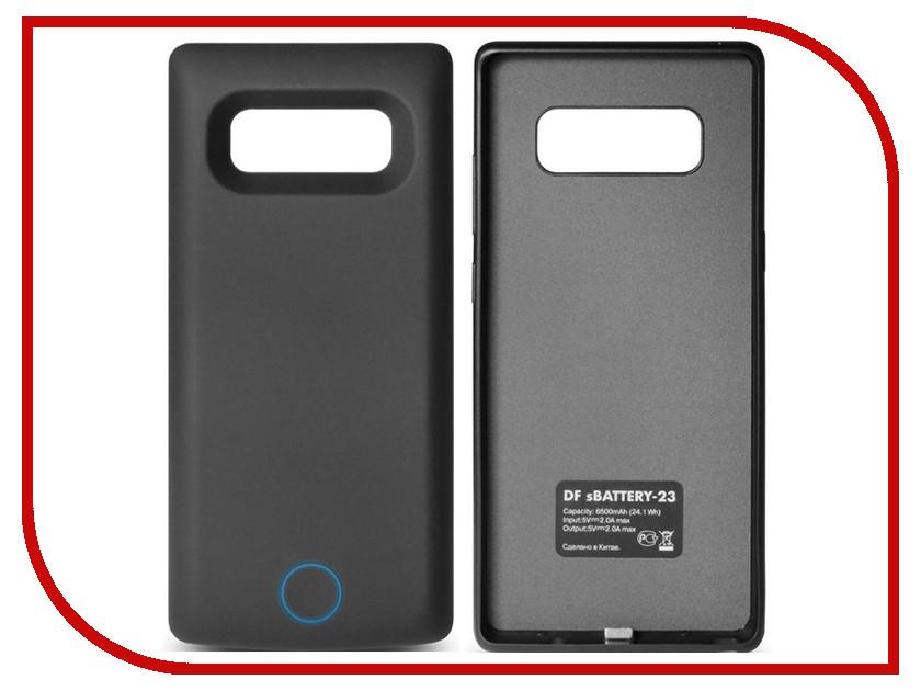 Аксессуар Чехол-аккумулятор для Samsung Galaxy Note 8 DF sBattery-23 6500mAh Black аксессуар чехол аккумулятор для samsung galaxy a5 2017 df sbattery 24 5000mah black