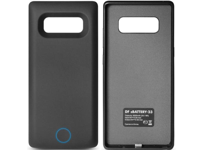 Аксессуар Чехол-аккумулятор DF для Samsung Galaxy Note 8 6500mAh sBattery-23 Black