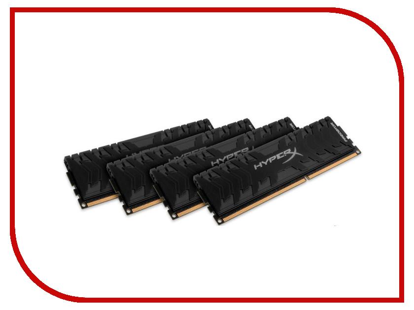 Модули памяти HX430C15PB3K4/16  Модуль памяти Kingston HyperX Predator DDR4 DIMM 3000MHz PC4-24000 CL15 - 16Gb HX430C15PB3K4/16