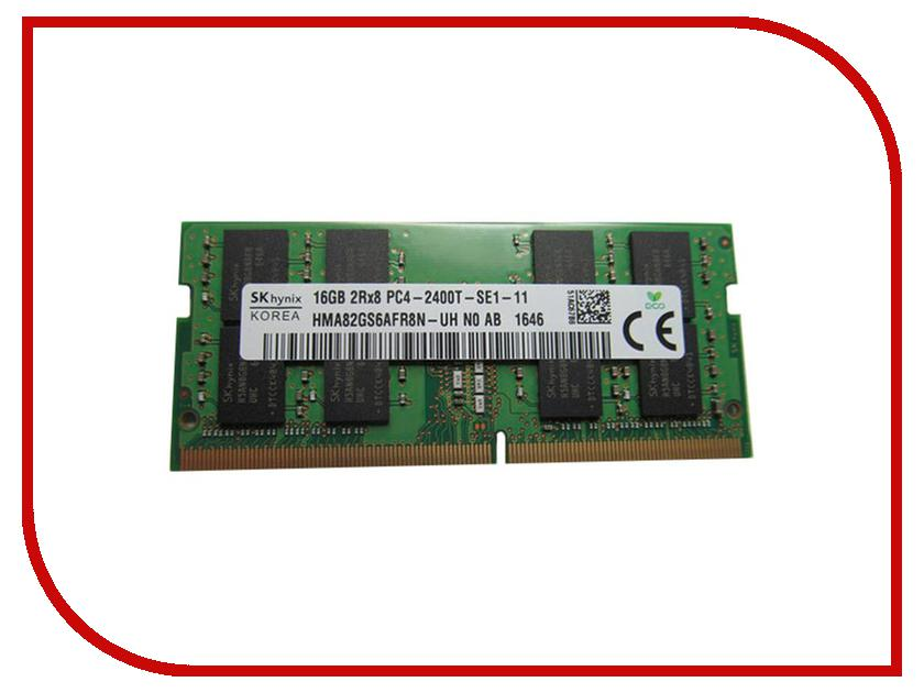 Модуль памяти Hynix DDR4 SO-DIMM 2400MHz PC4 -19200 CL17 - 16Gb HMA82GS6AFR8N-UHN0 модуль памяти patriot memory ddr4 so dimm 2400mhz pc4 19200 cl17 4gb psd44g240041s