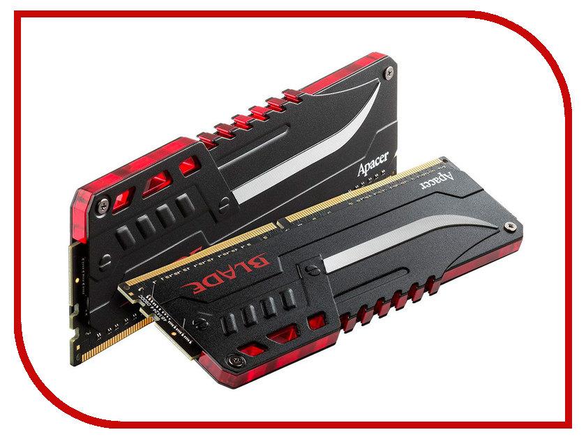 Модуль памяти Apacer Blade Fire DIMM DDR4 3200MHz PC4-25600 CL16 - 16Gb KIT (2x8Gb) EK.16GA1.GEDK2 все цены