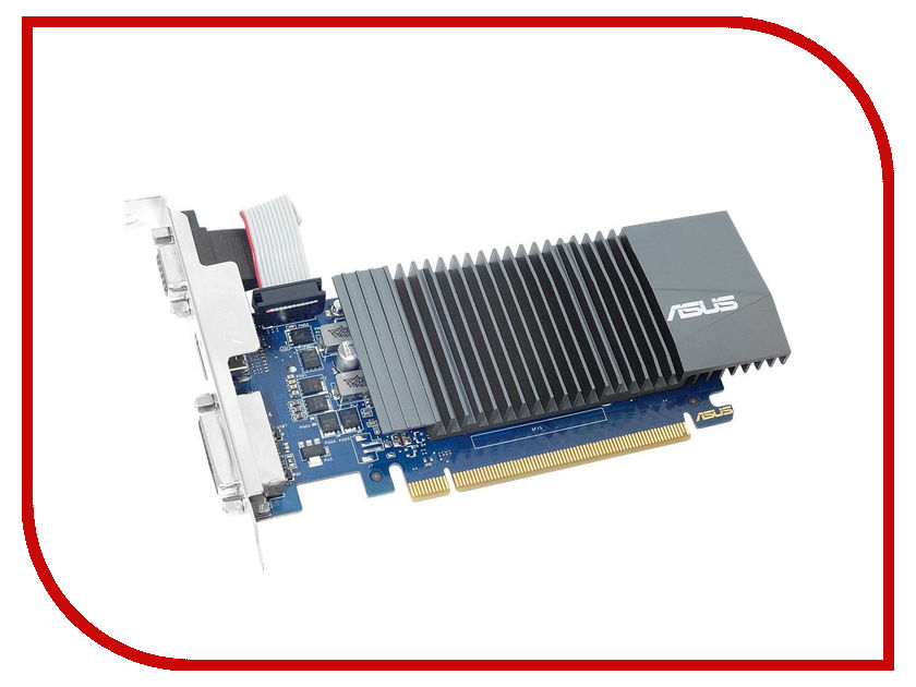 Видеокарта ASUS GeForce GT 710 954Mhz PCI-E 2.0 1024Mb 5012Mhz 32 bit DVI HDMI HDCP GT710-SL-1GD5 видеокарта 6144mb msi geforce gtx 1060 gaming x 6g pci e 192bit gddr5 dvi hdmi dp hdcp retail