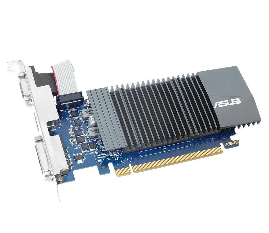 Видеокарта ASUS GeForce GT 710 954Mhz PCI-E 2.0 1024Mb 5012Mhz 32 bit DVI HDMI HDCP GT710-SL-1GD5 видеокарта 2048mb asus geforce gt710 pci e 64bit gddr3 dvi hdmi crt vga 710 2 sl retail