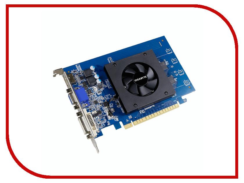 Видеокарта GigaByte GeForce GT 710 954Mhz PCI-E 2.0 1024Mb 5010Mhz 64 bit DVI HDMI HDCP GV-N710D5-1GI видеокарта gigabyte geforce gt 710 954mhz pci e 2 0 2048mb 5010mhz 64 bit dvi hdmi hdcp low profile gv n710d5 2gl