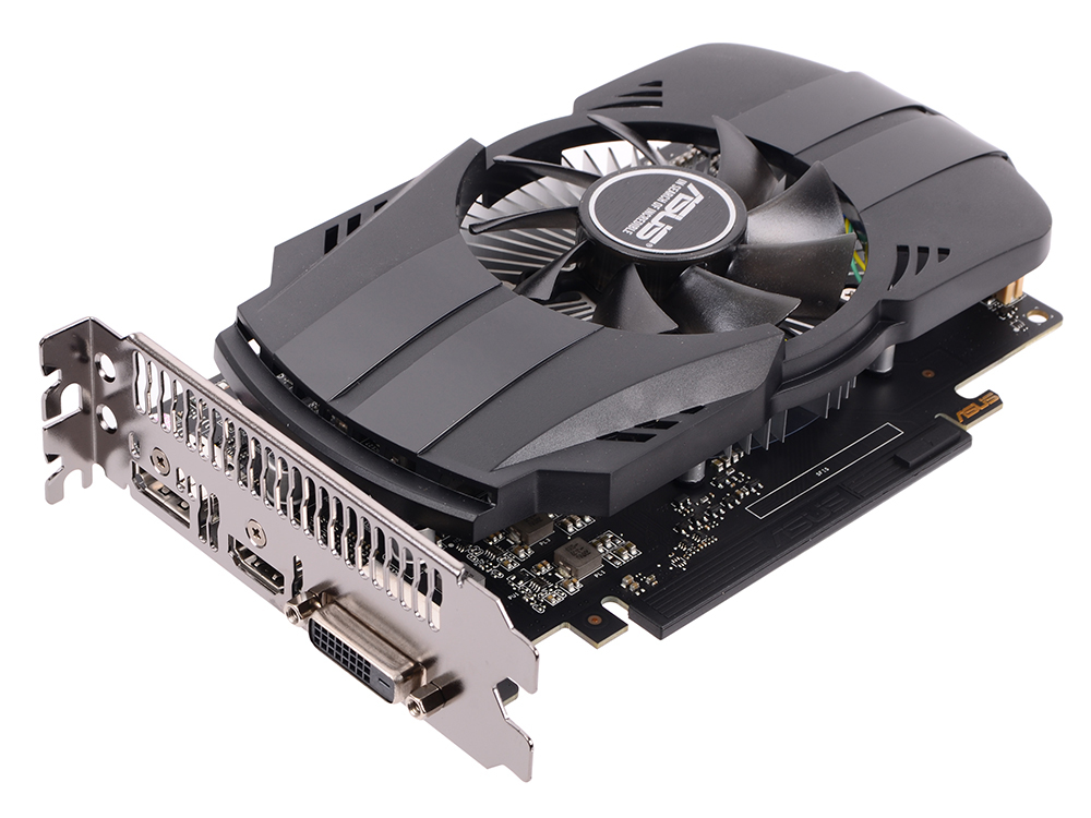 Видеокарта ASUS GeForce GTX 1050 1354Mhz PCI-E 3.0 2048Mb 7008Mhz 128 bit DVI DP 3xHDMI HDCP PH-GTX1050-2G видеокарта 2048mb msi geforce gtx 1050 pci e 128bit gddr5 dvi hdmi dp hdcp gtx 1050 gaming x 2g retail