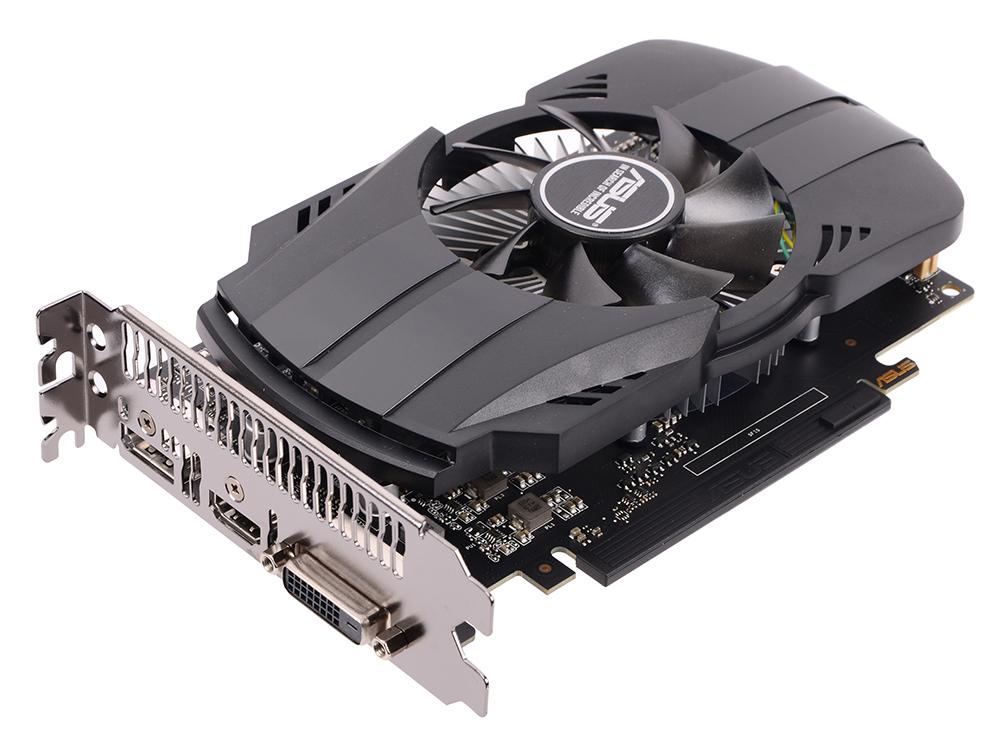Видеокарта ASUS GeForce GTX 1050 1354Mhz PCI-E 3.0 2048Mb 7008Mhz 128 bit DVI DP 3xHDMI HDCP PH-GTX1050-2G видеокарта inno3d geforce gtx 1050 2048mb twin x2 n1050 1ddv e5cm dvi d hdmi dp ret