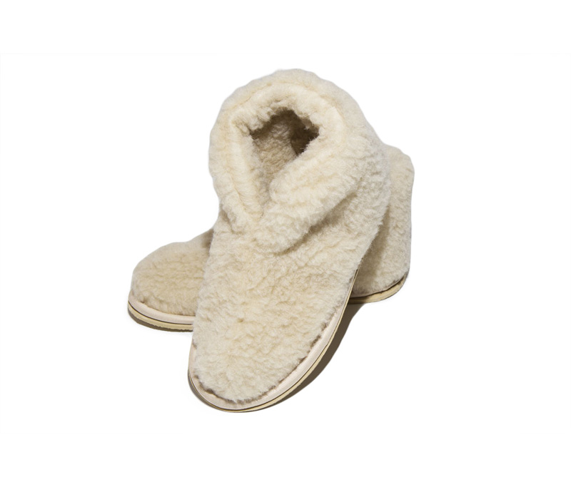 Тапочки Smart Textile Бабуши из овечьего меха Н521 размер 36-37 Beige
