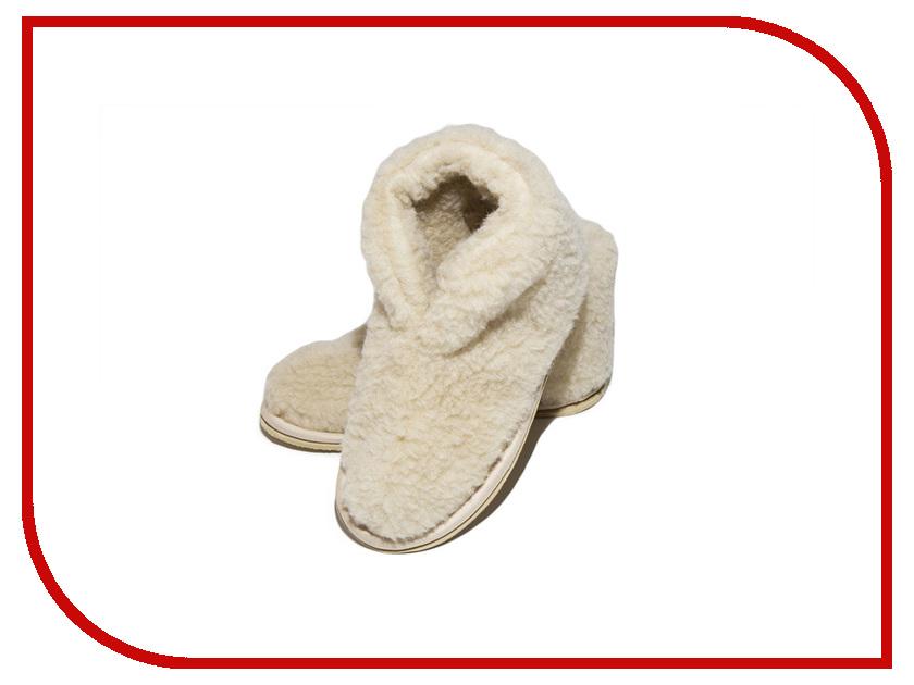Тапочки Smart Textile Бабуши из овечьего меха Н521 размер 38-39 Beige