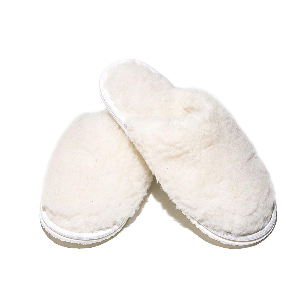Тапочки Smart Textile Домашнее Тепло из овечьего меха Н520 размер 40-41 White