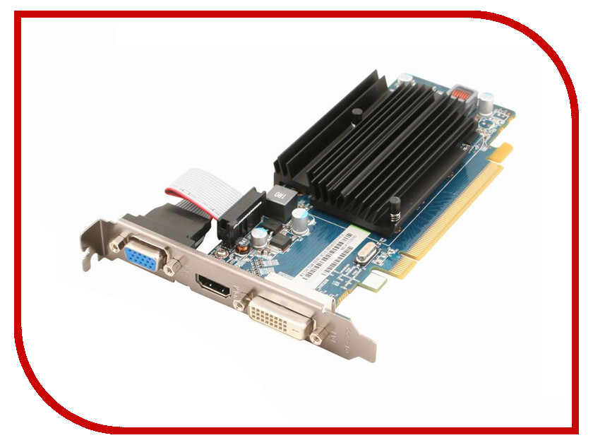 Видеокарта Sapphire Radeon R5 230 625Mhz PCI-E 2.1 2048Mb 1334Mhz 64 bit DVI HDMI HDCP 11233-02-20G видеокарта 6144mb msi geforce gtx 1060 gaming x 6g pci e 192bit gddr5 dvi hdmi dp hdcp retail