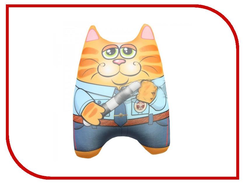 Игрушка антистресс Штучки к которым тянутся ручки Кот спасатель Полицейский 15асин15ив-2 оранжевый кот подушка игрушка антистресс кот спортсмен