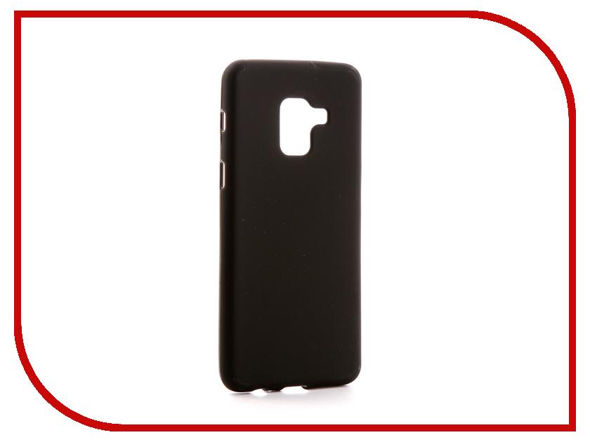 Аксессуар Чехол Samsung Galaxy A8 2018 A530F Svekla Silicone Black SV-SGA530F-MBL аксессуар чехол asus zenfone 3 max zc553kl svekla silicone black sv aszc553kl mbl