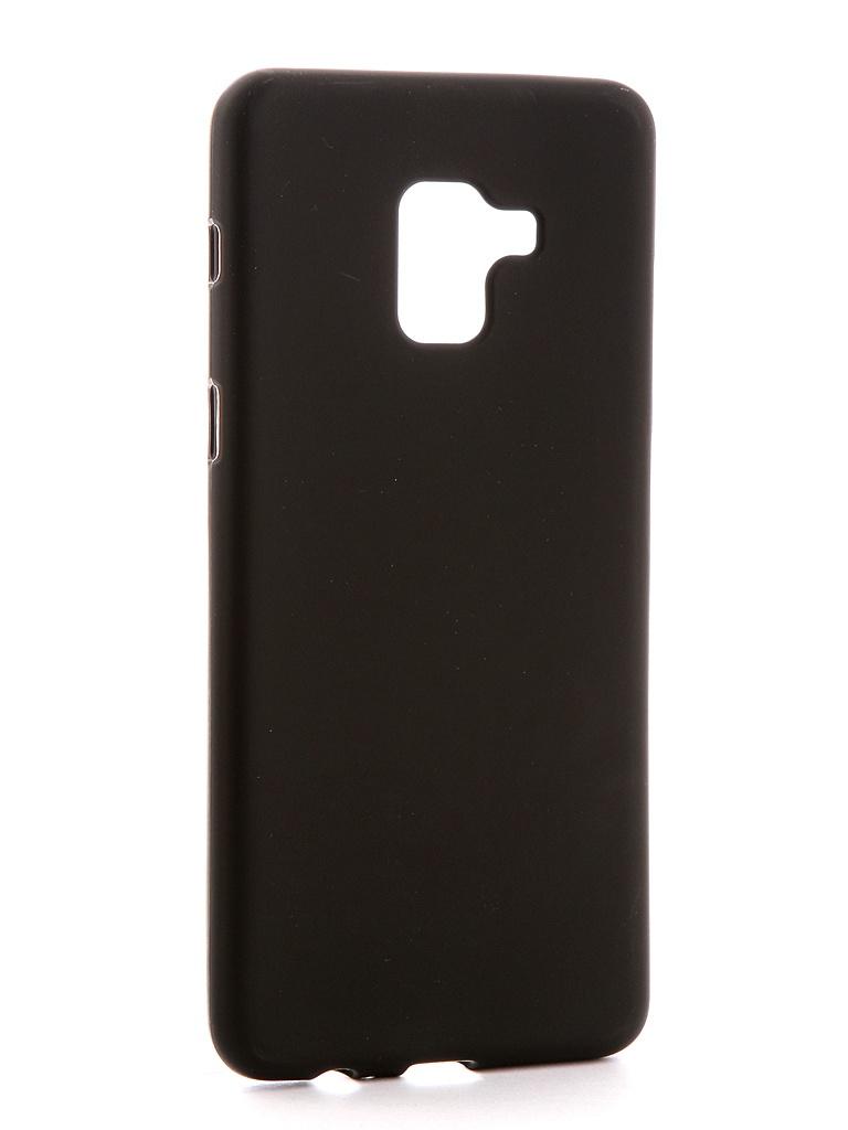 Аксессуар Чехол для Samsung Galaxy A8 Plus 2018 A730F Svekla Silicone Black SV-SGA730F-MBL аксессуар чехол накладка для samsung galaxy a8 sm a730f krutoff tpu transparent 11949