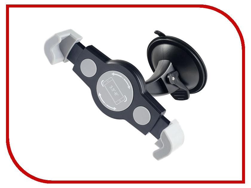 Держатель Perfeo PH-515 Black автодержатель perfeo 515 для смартфона до 5 8 на стекло угловой черный серый