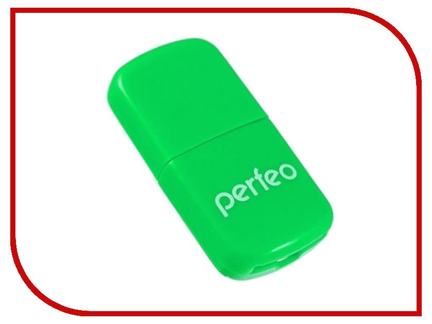 Карт-ридер Perfeo PF-VI-R009 Green flash mp3 плеер perfeo music clip titanium vi m001 4gb blue