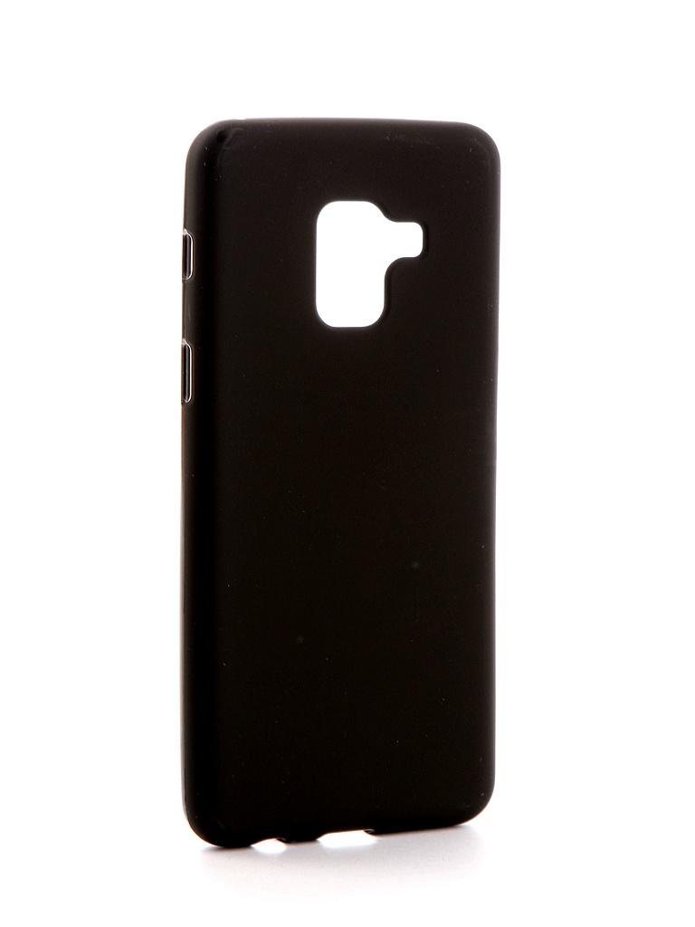 Аксессуар Чехол Neypo для Samsung Galaxy A8 2018 Silicone Soft Matte Black NST3505 аксессуар чехол для nokia 6 2018 neypo soft matte silicone black nst4301