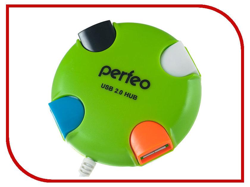 Хаб USB Perfeo PF-VI-H020 Green