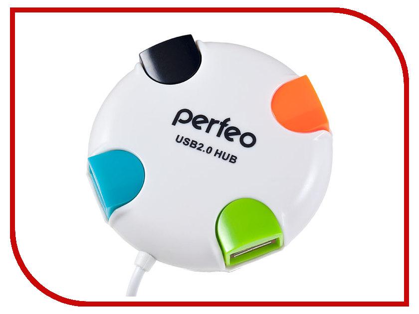 Хаб USB Perfeo PF-VI-H020 White flash mp3 плеер perfeo music clip titanium vi m001 4gb blue