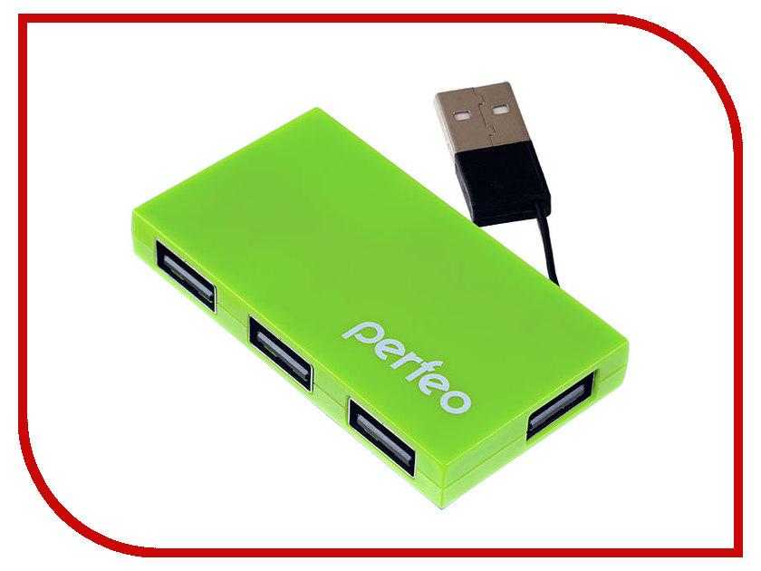 Хаб USB Perfeo PF-VI-H023 Green flash mp3 плеер perfeo music clip titanium vi m001 4gb blue