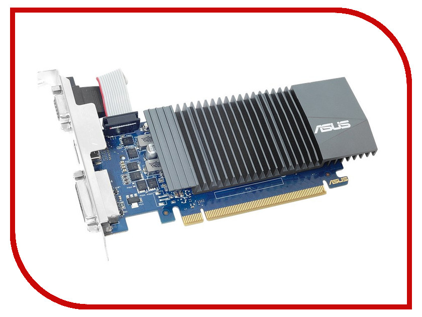 Видеокарта ASUS GeForce GT 710 954Mhz PCI-E 2.0 2048Mb 1253Mhz 64 bit DVI VGA HDMI HDCP GT710-SL-2GD5-BRK видеокарта 6144mb msi geforce gtx 1060 gaming x 6g pci e 192bit gddr5 dvi hdmi dp hdcp retail